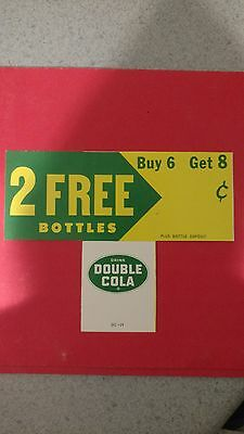 vintage Double Cola soda pop case insert advertising