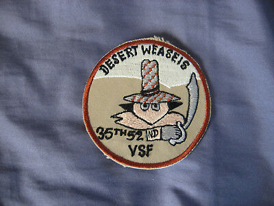 F-4 G Phantom II Desert Weasels Patch/35th 52nd VSF/Mint