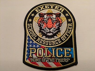 """NEW: Exeter Police School Resource Officer Patch, """"Home of the Tigers"""""""