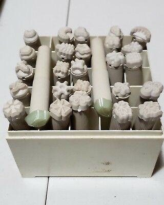 Vintage Kelly BossButton Leather Stamping Tools Lot of 27 pcs