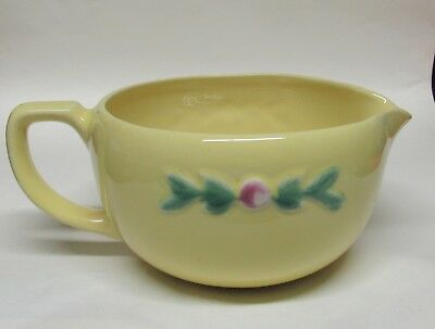 Vintage Coors Rosebud Batter Bowl with Handle Yellow