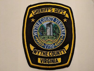 NEW: Wythe County VIRGINIA : 1790 : Sheriff's Department Patch