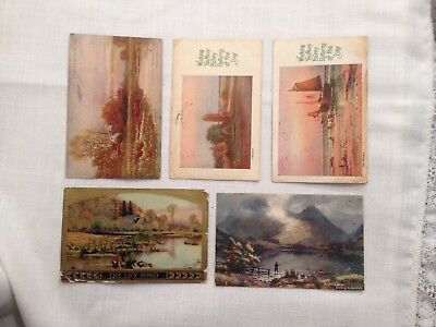 "Five Vintage ""Nature"" Postcards 1907 to 1911"