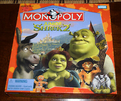 Shrek 2 Monopoly Junior Board Game Replacement Parts & Pieces 2004 Dreamworks