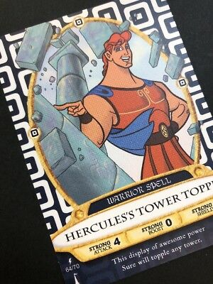 RARE!  Sorcerer's of the Magic Kingdom Hercules's Tower Topple Card #64!