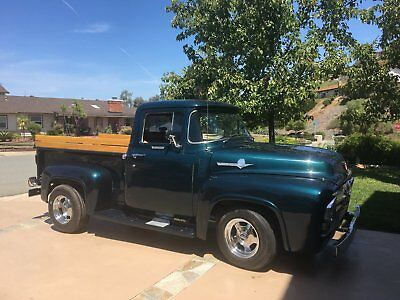 1956 Ford F-100  Green 1956 F-100 Ford Truck with wood bed and wood side panels