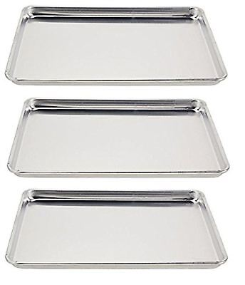 Vollrath 5303 Sheet Pan, 1/2 size, Aluminum, 18-Inch x 13-Inch x 1-Inch (3-pack)