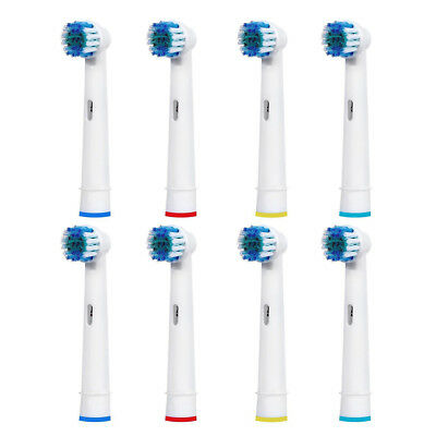 8 Brush Heads Compatible With Oral-B Precision Clean Replacement Toothbrush Top1
