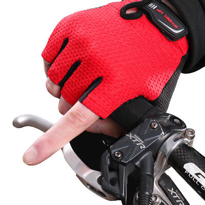 Outdoor Sports Cycling Bicycle Bike Half Fingers Fingerless Gloves MENS WOMENS