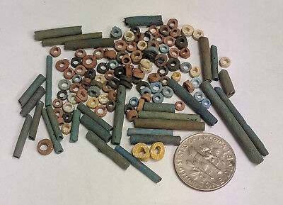 More than a Hundred 2500 Year old Ancient Egyptian Faience Mummy Beads (K702)