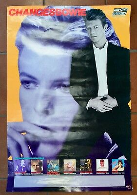 DAVID BOWIE ChangesBowie  RYKO Records 1990 PROMO POSTER