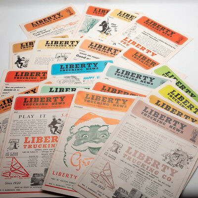 Vintage Liberty Trucking Company Chicago News 1960's 20 issues
