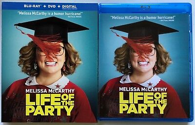 Life Of The Party Blu Ray Dvd 2 Disc Set + Slipcover Free World Wide Shipping