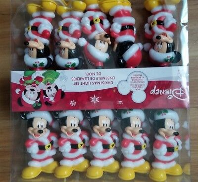 NEW DISNEY World Santa Mickey Mouse Happy Holidays String of Christmas Lights