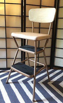 Sensational Vintage Cosco Step Ladder Chair 25 00 Picclick Machost Co Dining Chair Design Ideas Machostcouk