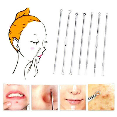 7Pcs Blackhead Remover Tool Set Stainless Steel Acne Pimple Comedone Extractor
