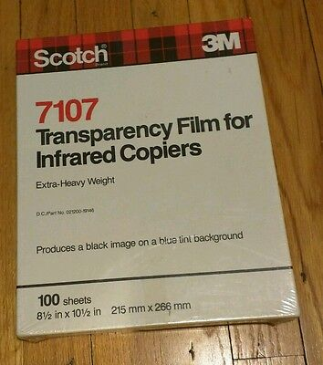 3M TRANSPARENCY FILM for INFRARED COPIERS - EXTRA HEAVY WEIGHT - 7107