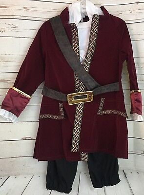 The Disney Store Jake And The Neverland Pirates Captain Hook Costume XXS 2-3 Boy