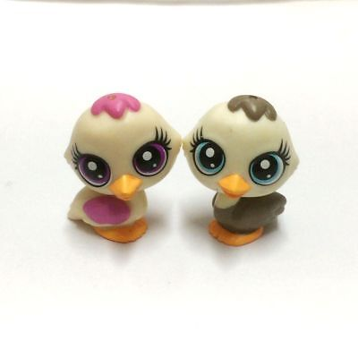 Lot 2Pcs Littlest Pet Shop LPS Duck animal mini figure baby girl doll toy