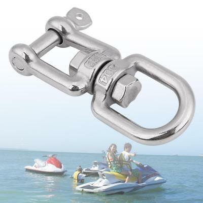 6mm 316 Stainless Steel Boat Swivel Ring Snap Rolling Shackle Hook Device Silver