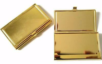 Pocket Size Gold Tone Salesperson's Business Card Storage Case New FREE POST
