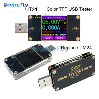 UT21 Color TFT LCD Current Voltage Power Meter USB Tester Ultra UM24/UM24C