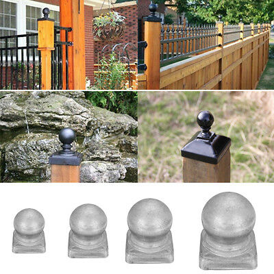 50*50mm Silver Metal Fence Finial Round Ball Shape Post Cap Protect Square Posts