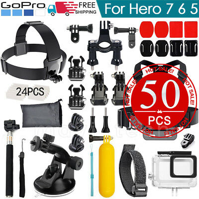 Accessories Pack Case Head Chest Monopod Bike Surf Mount for GoPro Hero  4 3