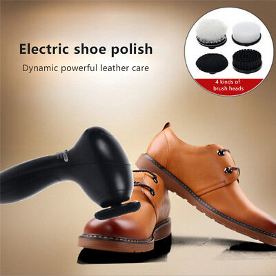 4 in1 Electric Shoe Polisher Portable Hand-held Multi-purpose Leather Care Shoe