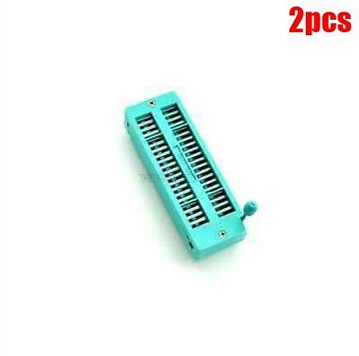 2Pcs Socket 40P 40Pin Zif Zip Test Tester Board Socket cm