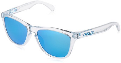 708476c0240 Authentic OAKLEY Frogskins Asia Fit 9245-41 Sunglasses Polished Clear  NEW   54mm