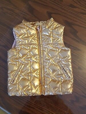 Rose gold cotton on kids girls  puffer vest size 6-12months excellent condition