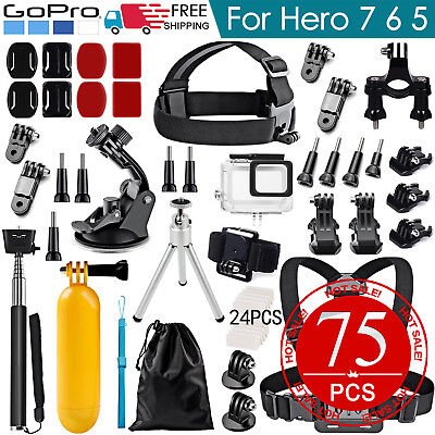 GoPro Hero Accessories Pack Head Chest Diving Waterproof Housing Case for 7 6 5