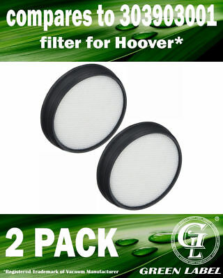 2 Pack Washable Vacuum Filter 303903001 for Hoover UH72400 WindTunnel