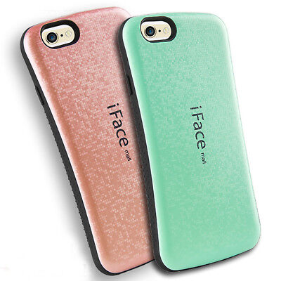 iFace mall Hybrid Shockproof Case Cover Blingbling Grid For iPhone X 6 7 8 Plus