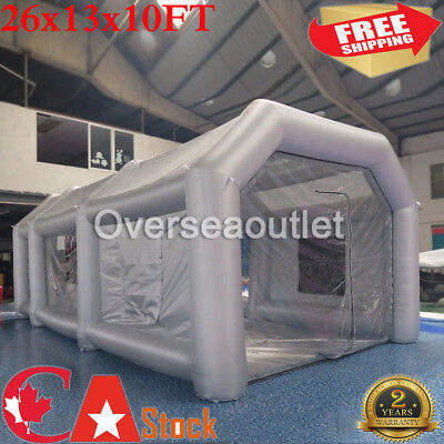 26FT Inflatable Paint Tent Spray Paint Booth Giant Car Workstation Fan Spray
