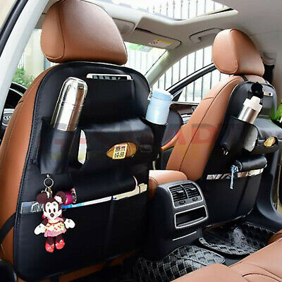Car Organiser Back Seat  Leather Travel Storage Bag Organizer Holder Leather