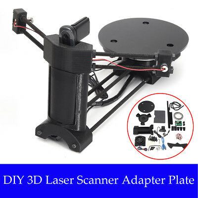 AU Open Source 3D Laser Scanner Adapter Object Plate For Ciclop 3D Printer Black