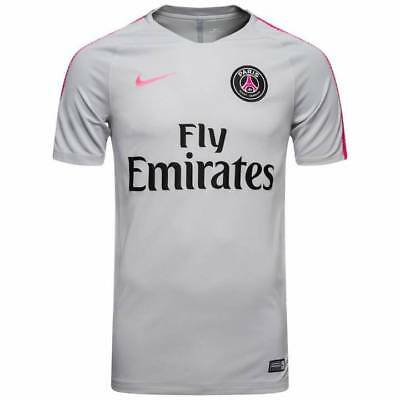 Nike PSG Paris Saint Germain Squad Training Shirt 2018/19 - Grey - Mens