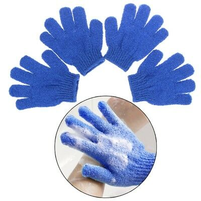 4X Soft Exfoliationg Gloves Bath And Shower Cleansing Smooth Face Legs Body