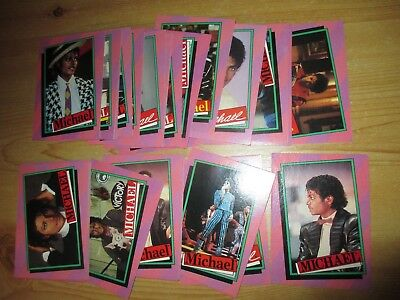 Scanlens Picture Trading Cards: Michael Jackson.