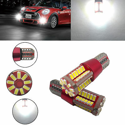 2X T10 3014 57SMD LED Car Canbus Side Wedge Light Bulbs Lamps White Ultra Bright