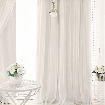 Wedding Party White Stage Backdrop Photography Curtains Background Drape New