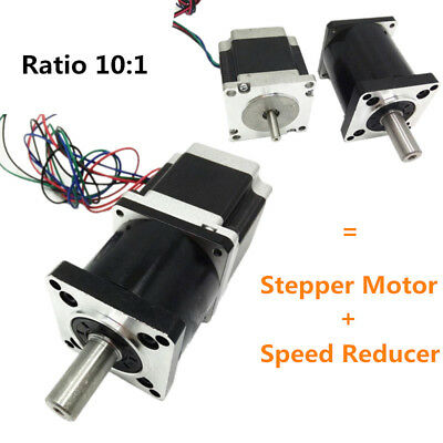 Planetary Extruder Gear Stepper Motor Nema 23 Ratio 10:1 171oz.in 1.1NM for CNC