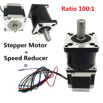 Planetary Extruder Gear 1.1NM Stepper Motor Nema 23 Ratio 100:1 For CNC DIY 2PH