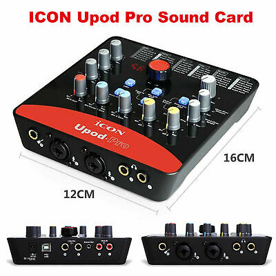 ICON Upod Pro USB Record Sound Card Audio Streaming Interface Computer Digital