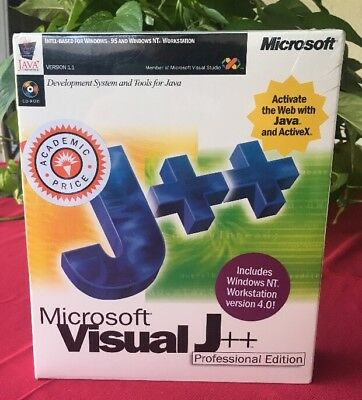 Visual J++ V1.1 Professional Ed. for PC Retail Box NEW Mint in Sealed Box