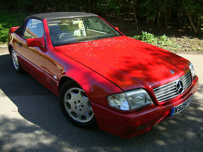 Mercedes 300 3.0 Auto SL 1992 Red Convertible Sports Car Cabriolet Hardtop