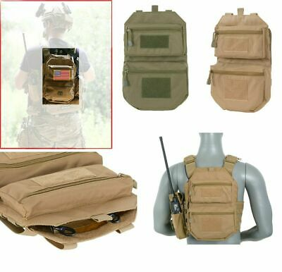 Airsoft Assault Back Panel pouch molle MC green multicamo coyote tactical pack