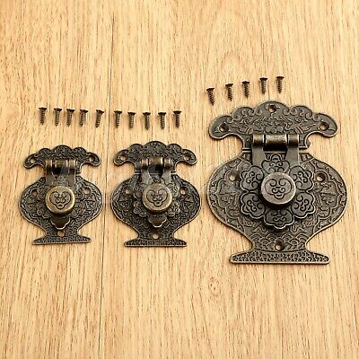 1Pc Antique Bronze Furniture Jewelry Gifts Box Hasp Lock Latch Suitcase Buckle
